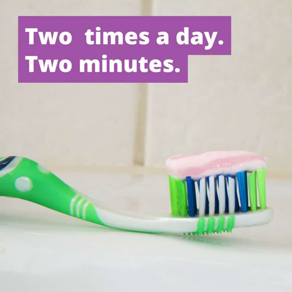 citrus heights dental brush two times a day for two minutes